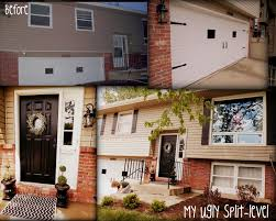 tri level home designs my ugly split level tan with black accents diy shutters garage