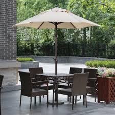 amazon com abba patio 7 1 2 ft round outdoor market patio