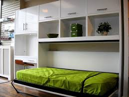 Shelf Bed Frame Bedroom Creative Small Room Design Idea Using White Wall Shelf In