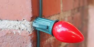 how to use glue to fasten christmas lights to brick or stucco