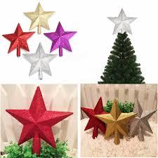 3d shinny glitter star christmas tree topper xmas decoration at