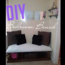 diy bedroom bench youtube