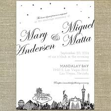 vegas wedding invitations las vegas skyline wedding invitation sample only