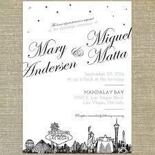 las vegas wedding invitations las vegas skyline wedding invitation sample only