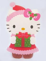 kitty christmas gift pop decorative christmas greeting