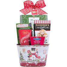 Houdini Gift Baskets Houdini Christmas Character Tin Holiday Gift Basket 7 Pc