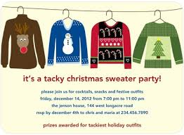 tacky sweater invitation wording rainforest