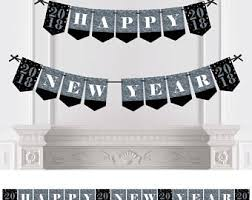 Black Silver New Years Eve Decorations by New Years Eve Decor Etsy