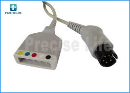 mindray 0010 30 12257 ecg trunk cable with aha iec color code