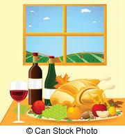 vector clipart of thanksgiving dinner seasonal vector