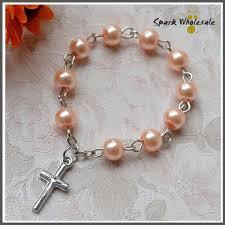 catholic rosary ring 25pcs lot catholic gift glass pearl imitation finger rosary