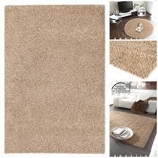 Esszimmer Teppich Hochflor Teppich Mono Sand 295