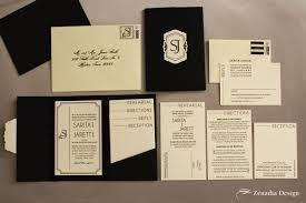 and black wedding invitations modern black white wedding invitation zenadia design