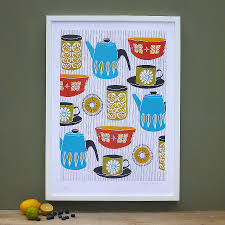 Retro Kitchen Accessories by Retro Kitchen Screen Print By Patrick Edgeley Notonthehighstreet Com