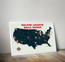 United States Of Baseball Map by Baseball Stadium Map Major League Ball Parks Map U S Map