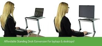 Standing Sitting Desk by Amazon Com Workez Standing Desk Conversion Kit Adjustable