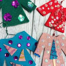 Ugly Christmas Sweater Decorations Diy Ugly Sweater Ornaments Hometalk