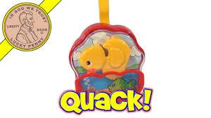vintage fisher price quacking yellow duck u0026 fish music box baby