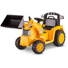 excavator halloween costume kidtrax cat bulldozer tractor 6v battery powered ride on yellow