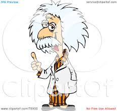 royalty free rf clipart illustration of albert einstein wearing