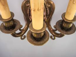 edwardian u0027fancy u0027 wall sconce triple arm