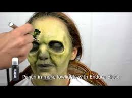special effects airbrush makeup easy and fast makeup with prosthetic and airbrush tutorial