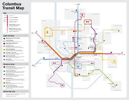 Maps Direction Fantasy Map Columbus Ohio Light Rail By Michael Transit Maps