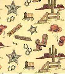 cowboy wrapping paper buckaroos western cowboy heavy gift wrapping