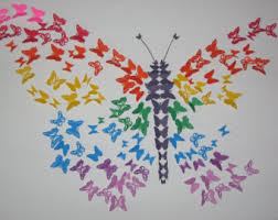 wall ideas design fascinating butterfly wall diy