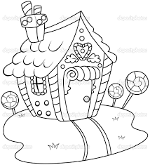 gingerbread house candy coloring pages coloring pages