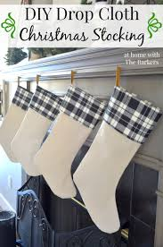 diy drop cloth christmas stocking at home with barkers
