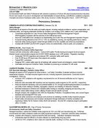 safety manager resume safety manager resume sample example job