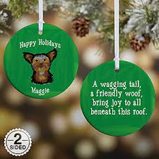 personalized breed ornaments 2 sided gifts
