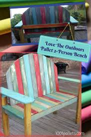 1001 Pallet by Chalk Paint Two Person Pallet Bench U2022 1001 Pallets