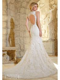 key back wedding dress mori 2786 key back figure flattering gown ivory silver