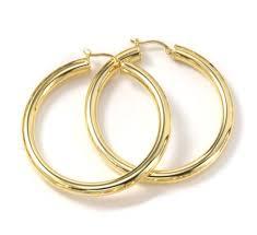 14kt gold earrings 14k gold large wide snap hoop earrings for pierced ears only