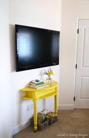 how to hide wires wall mount tv sarah m dorsey designs master bedroom trellis stencil wall complete