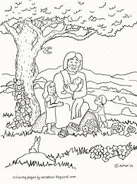 coloring pages for kids by mr adron jesus blesses the children