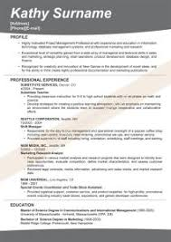 Good Example Of Resume by Examples Of Resumes 85 Stunning Simple Job Resume Template