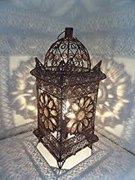 moroccan light table lamp colourful jeweled white grid design