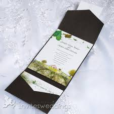 cheap wedding invites cheap green trees garden summer pocket wedding invites iwps096