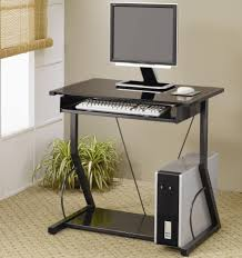 roll out computer desk black metal computer desk with roll out keyboard tray and lower
