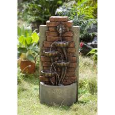 Yosemite Home Decor Fountains Cascading Bowls Wall Indoor Or Outdoor Water Fountain Outdoor