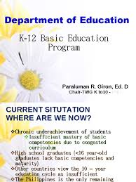k 12 basic education program curriculum literacy