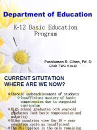 k 12 basic education program curriculum literacy