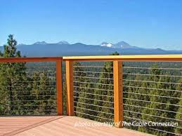 stainless steel cable railing porch railings deck railing ideas