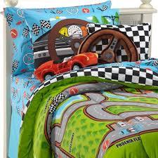 Twin Comforter Sets Boy Race Cars Racetrack Boys 3pc Twin Comforter Set Joshua U0027s Car