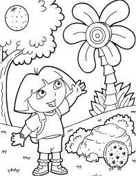 dora explorer coloring free download