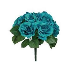 Teal Roses Flowers 2 Polyvore