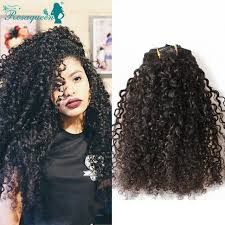 gray hair pieces for american kinky curly clip in hair extensions natural hair 3b 3c african